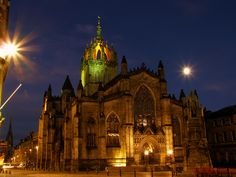 St Giles' Cathedral in Edinburgh, Scotland