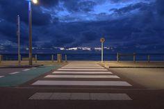 https://flic.kr/p/z22tXg | Road to sea | Hardelot Sea front at night.