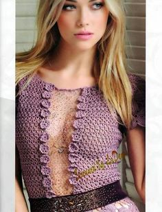 crochelinhasagulhas: vestido rosa en crochet