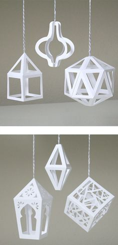 3D Paper Ornaments by Patricia Zapata