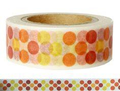 Masking Tape - Washi Tape PUNKTE orange - ein Designerstück von Fitzi-Floet bei DaWanda