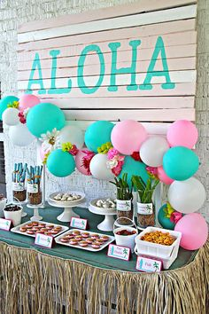 Hawaiian Luau Birthday Party on Kara's Party Ideas | KarasPartyIdeas.com (8)