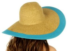 Con monograma  sombrero de ala ancha sombrero para el sol