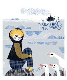 Poems for children by Stanisław Grochowiak. Illustrated by Gosia Herba. Design by Mikołaj Pasiński. 2017