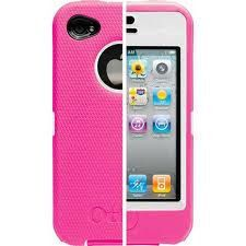 For the girls, iPhone 4/4S OtterBox Defender Series Case with Holster- Pink