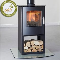 Mendip Churchill 8 Double Sided Logstore Multifuel / Woodburning Stove
