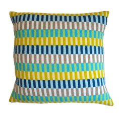 summer days knitted lambswool cushion by gabrielle vary | notonthehighstreet.com