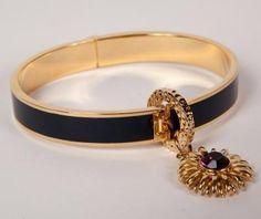 Gold Charm Bangle