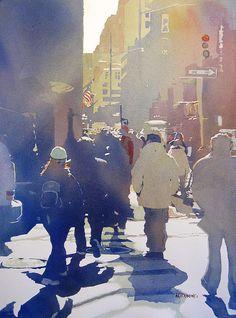 Against The Light; Kris Parins; Watercolor On Paper