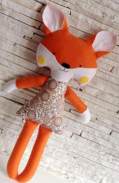Softies, Plushies, Sewing Patterns Free, Free Pattern, Fox Toys, Sensory Toys, Sewing Toys, Handmade Toys, Baby Toys
