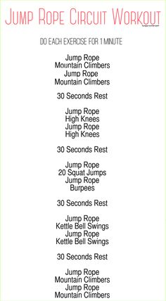 This jump rope circuit workout is the perfect mix of cardio and strength training. It will get your heart racing and the sweat pouring fast! Training for beginners Training plan Training video Training weightlifting Training women Training workout Hiit Workout Routine, Cardio Workout At Home, Gym Workouts, At Home Workouts, Workout Plans, Fitness Exercises, Workout Kettlebell, Kettlebell Challenge, Kettlebell Benefits