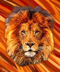 Old Lion Digital art Painting Posters #posters #homedecor #wall #paper #bedroom…