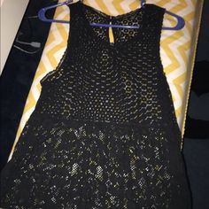 American Eagle Black Lace Tank Top Adorable black lace tank top! *like new* Let me know if you have any questions. I'm usually able to ship the same day, otherwise the next day for sure! Bundle my items for a discount :) American Eagle Outfitters Tops Tank Tops