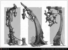 lamp post concept by Artyom Vlaskin - Game: Captain Blood