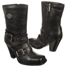 Harley Davidson Boots For Women | Women's Harley Davidson Obsession Black Shoes.com