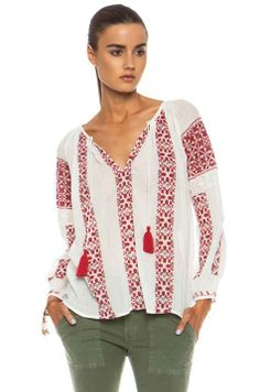 Peasant style blouse, design inspired from romanian IA. Folk Fashion, I Love Fashion, Nili Lotan, Traditional Outfits, Bohemian, My Style, Sweaters, Cotton, Shirts