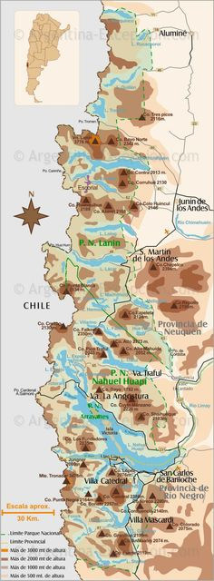 Patagonia Lakes Route Map - Argentina