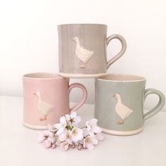 Goose Mugs by Jane Hogben | Clarabelle Interiors