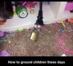 Yep that's the way to do it lol That floor is disgusting. Parenting Win, Parenting Done Right, Parenting Hacks, Funny Parenting, Practical Parenting, Foster Parenting, Lol So True, Haha, Do It Yourself Inspiration