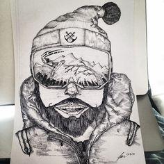 Ink Drawing _ Luke de Villiers #Ink #Sketches #Drawing #Rasberydays #Design #Art #Doodling #theotherbarman #Luke de Villiers Design, Sketches, Tattoos, Skull, Drawings, Ink Drawing, Art, Ink, Humanoid Sketch