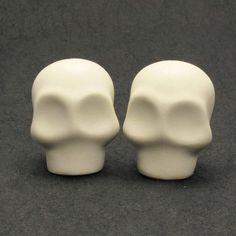 Skull Wedding Cake Toppers Unpainted Skulls