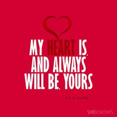 My heart will always be yours