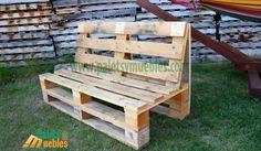 mesa-y-banco-hecho-con-palets - DIY Furniture Couch Ideen Pallet Garden Furniture, Diy Outdoor Furniture, Reclaimed Wood Furniture, Diy Furniture, Diy Pallet Couch, Pallet Seating, Pallet Benches, Pallet Table Outdoor, Pallet Bar