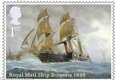 Royal Mail Ship Britannia 1840 from 2013 'Merchant Navy'