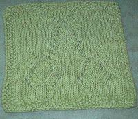 Threadbenders: Artichoke Trio Dishcloth pattern