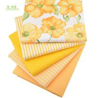 5 unids Hometextile Para Hoja de Material de Tela de Tejido de Algodón Para coser la Costura Vestido de Muñeca Cojín Bolsas Para 5 unids Amarillo 40x50 cm