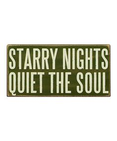 Beautiful truth :: Starry Nights Box Sign by Primitives by Kathy