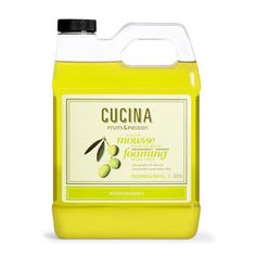 Cucina soap - Foaming Hand Wash Refill. A fabulous foaming treat, this soap produces creamy foam that gently cleanses your hands. Delicately scented, it is formulated with olive oil and olive derivative with purifying properties. Cucina products from Rain Collection.