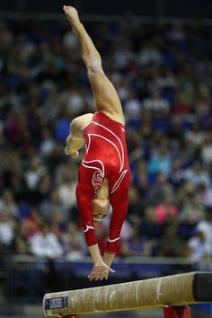 Bridget Sloan, gymnast, women's #gymnastics, WAG, balance beam