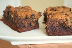 """""""There are no words"""", Cookie Brownies. Seriously these are amazing! I make them each time we have guests over because they practically demand it!"""