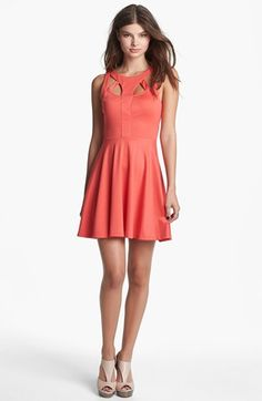 cutout girly dress =) #coral Get 5% cash back: http://www.studentrate.com/lakeforest/get-lakeforest-student-deals/Nordstrom-Student-Discounts--/0
