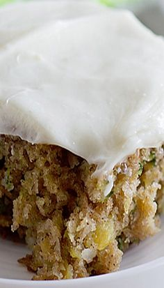 Pineapple Zucchini Sheet Cake with Cream Cheese Frosting Recipe ~ moist and addictive... It is topped off with a silky cream cheese frosting.