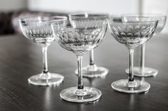 Coupes Glass Set of 6 | Champagne Coupe Glasses | Cocktail Coupe Glass | Champagne Saucer | Cocktail Glasses