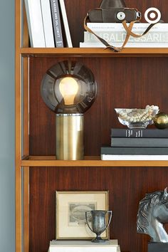 This globe light from the new @NateBerkus collection will bring a truly illuminating experience to your bookshelf, or anywhere else you want to make a statement.