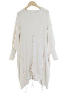 Charming O-Neck Bat Sleeve Knitting Loose String Women Casual Pullover Sweater on buytrends.com