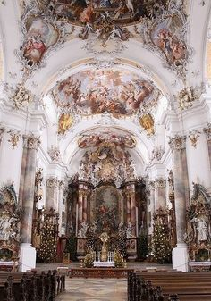 Art And Architecture, Beautiful Architecture, Beautiful Buildings, Beautiful Places, Cathedrals, Renaissance, Palaces, Art Interiors, Rococo Style
