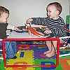 Hoohobbers kids table is perfectly sized to work with hoohobbers junior director chair, and offers a multitude of uses including playing with toy cars and race tracks.