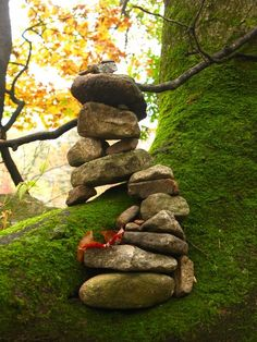 Feel free to place another stone on top of these piles. If they remain, your wish is granted; otherwise, your wish will not come true. This particular stack was impressive.