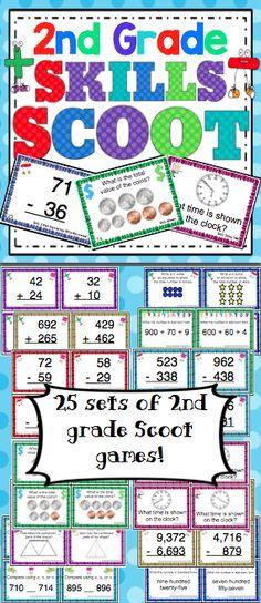 Free Math Games: 2nd Grade Mad Minutes | Fun math games, Homeschool ...