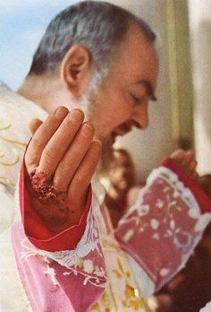 This is the most detailed photo I have ever seen of the Stigmata of St Padre Pio! My man Padre Pie :)