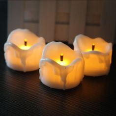 ==> [Free Shipping] Buy Best Real Effect Melting Candle Pillar Shape Flamless LED Tealight Candles Bulk Set of 12 Online with LOWEST Price | 32288728420