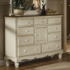 Alcott Hill Baptist Mule 9 Drawer Combo Dresser Color: Antique White