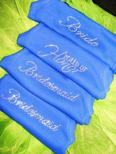 Royal Blue Wedding Theme Ideas Bride Bridesmaid by uniqueandtrendy, $16.95