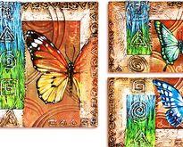 "Триптих ""Бабочка"" - ручная работа, handmade"