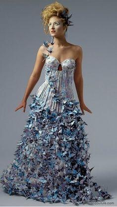 бумажные платья Лии Гриффит