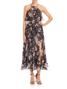 Zimmermann Ruffled Floral Silk Dress